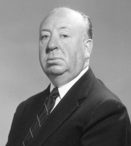 A typical portrait of Hitchcock