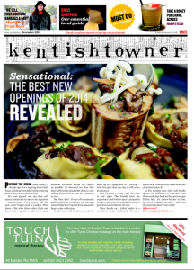 A recent cover of Kentishtowner in print.