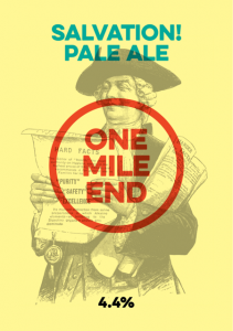Salvation Pale Ale will be on the menu.