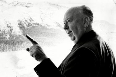 Alfred Hitchcock pointing