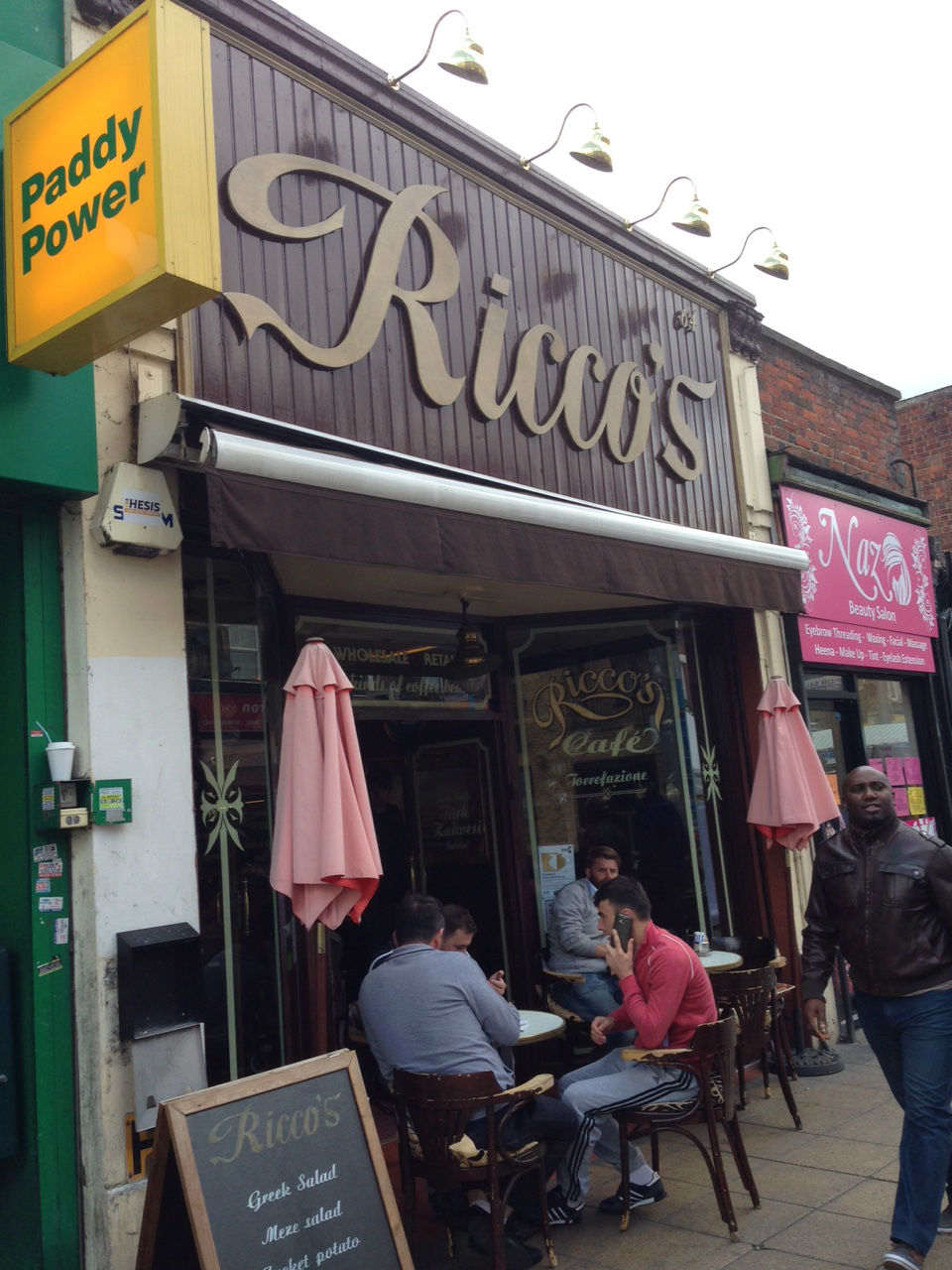 Riccos: the cafe's worth a detour anyway. And there's art upstairs