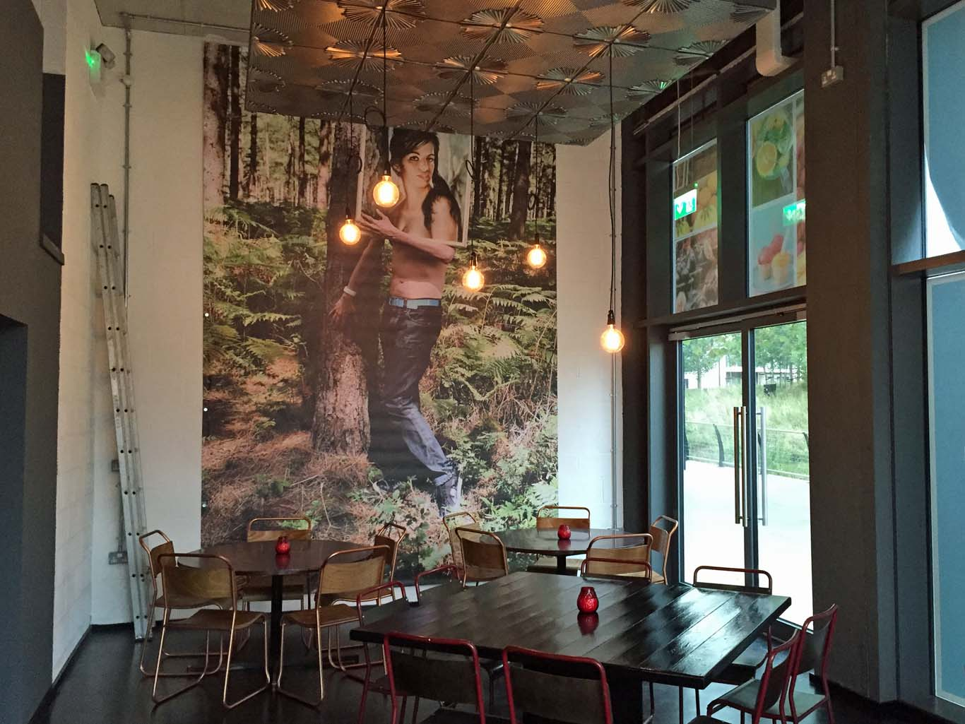 Tina features in the 1960s painting by J. H. Lynch, floor to ceiling at the new cafe