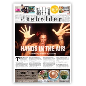A recent cover of Gasholder