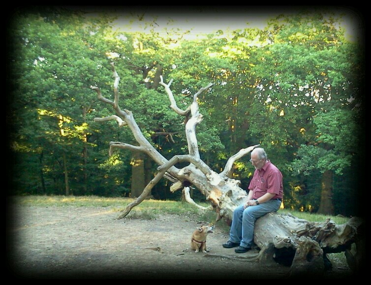Philip with long term companion at Larkswood. Photo: Philip