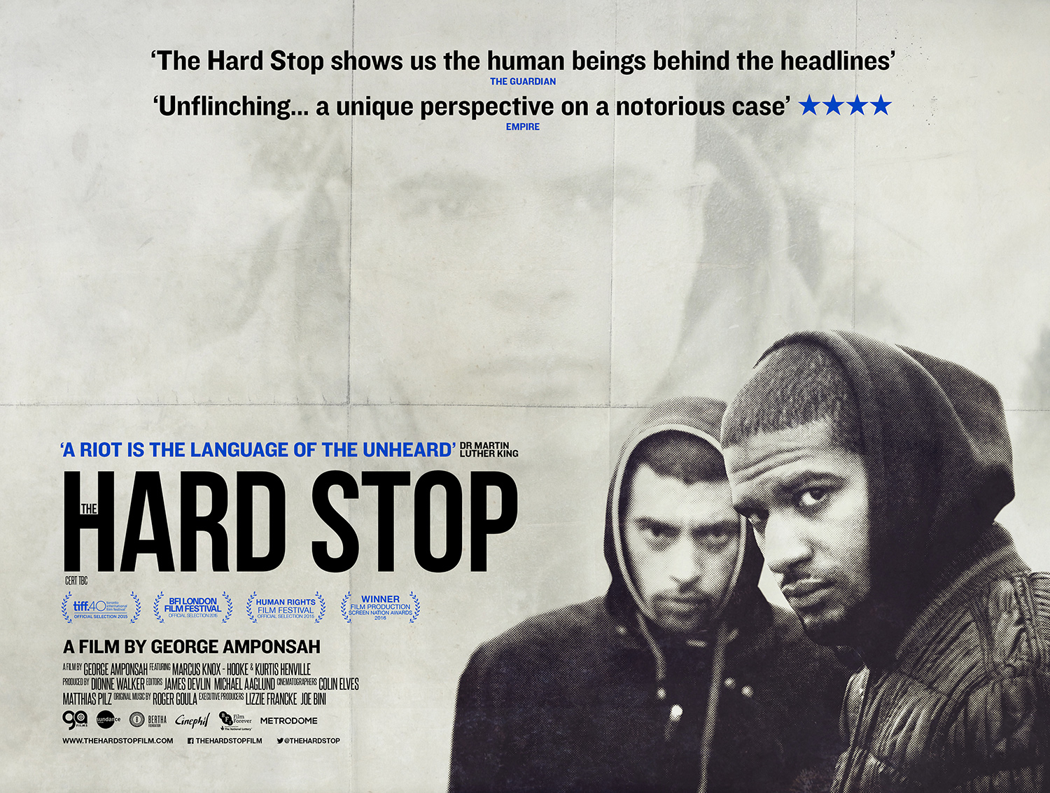 Poster for The Hard Stop. Photo: PR