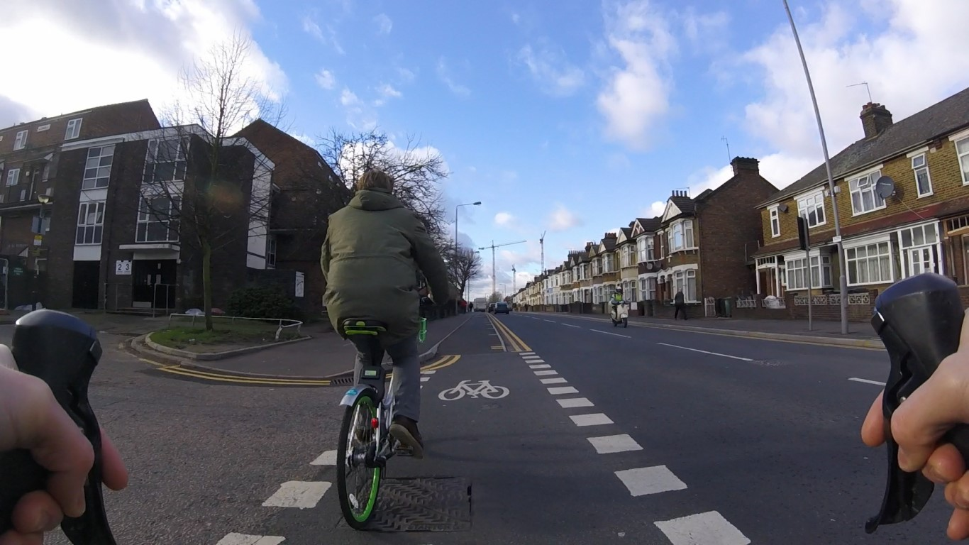 Cycling on the cycle path