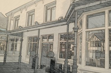 Illustrated exterior of Ark, South Woodford