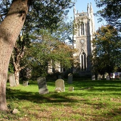 St John's Church and cemetery, setting for Hitchcock's Home