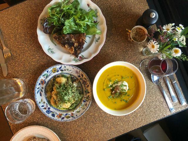 Soup, quiche and cauliflower at Henrietta Inman at Yardarm