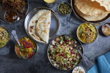 An array of appetising vegan plates at SpiceBox